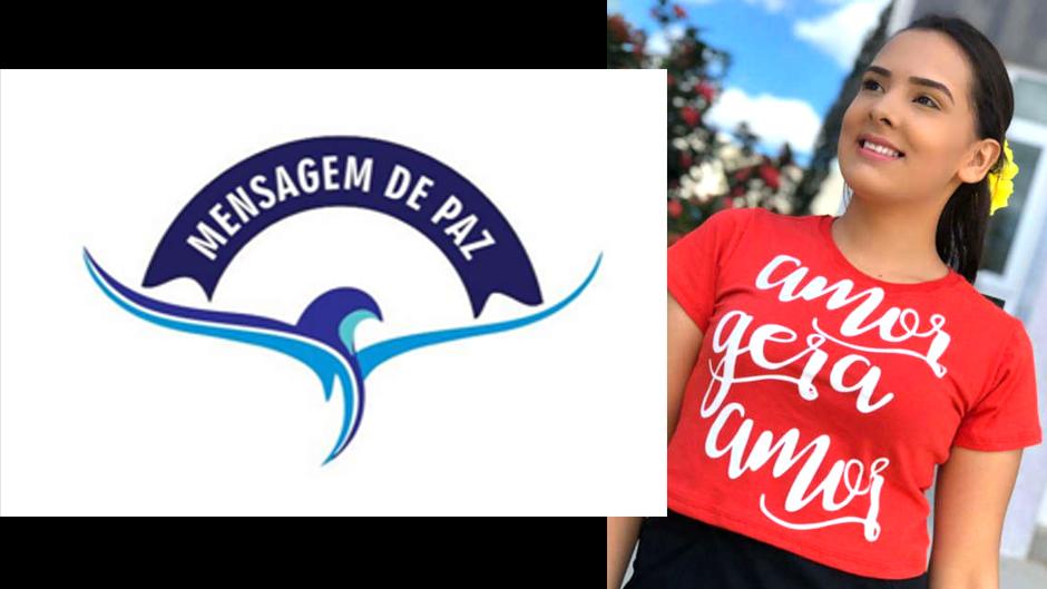 mensagem de paz tshirt moda evangélica feminina atacado