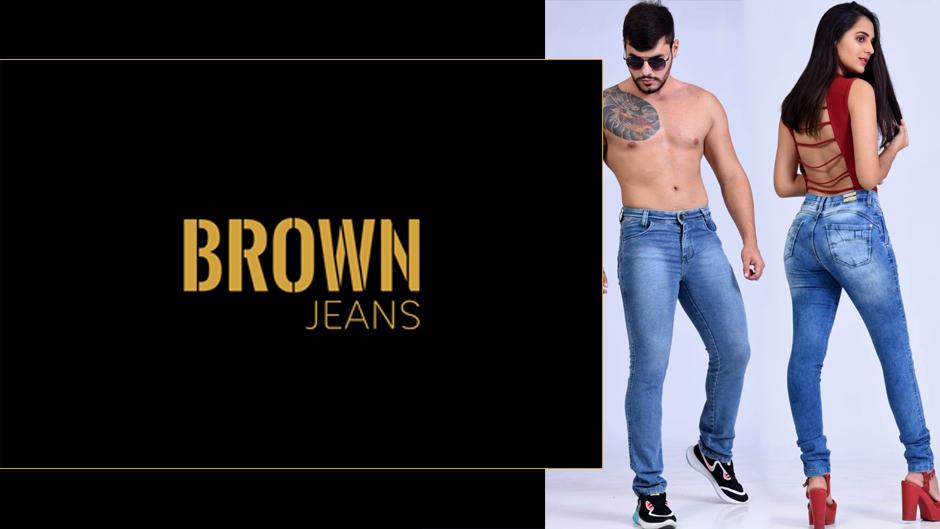 brown jeans moda feminina masculina atacado