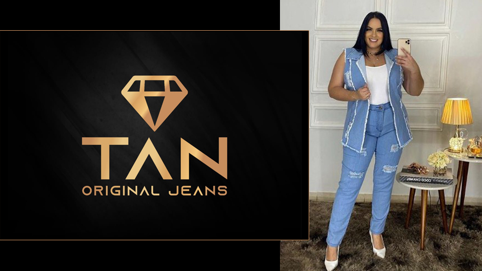 tan jeans plus size moda feminina atacado