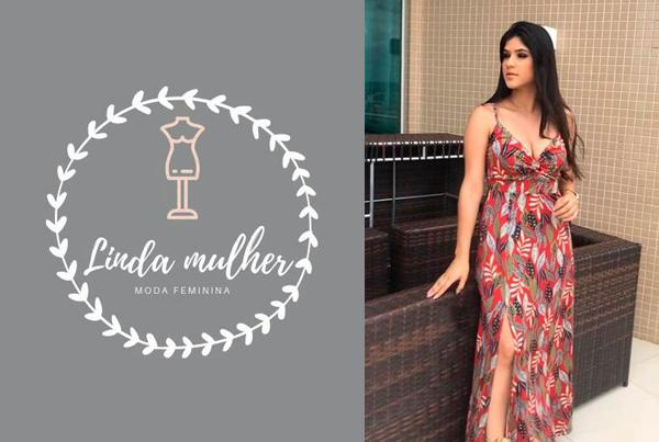 Linda Mulher Moda Feminina